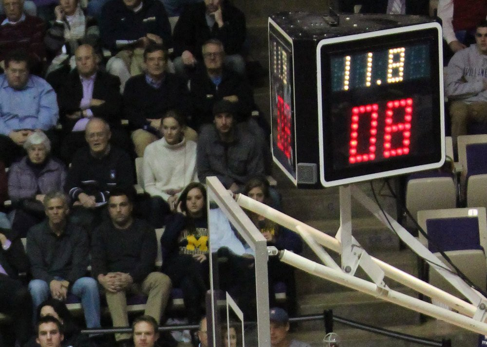 Shot clock basketball game