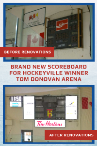 New SST8 Scoreboard for Hockeyville Winner 1